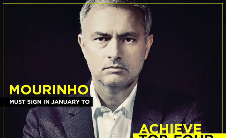 Jose Mourinho tries to achieve the top-four finish
