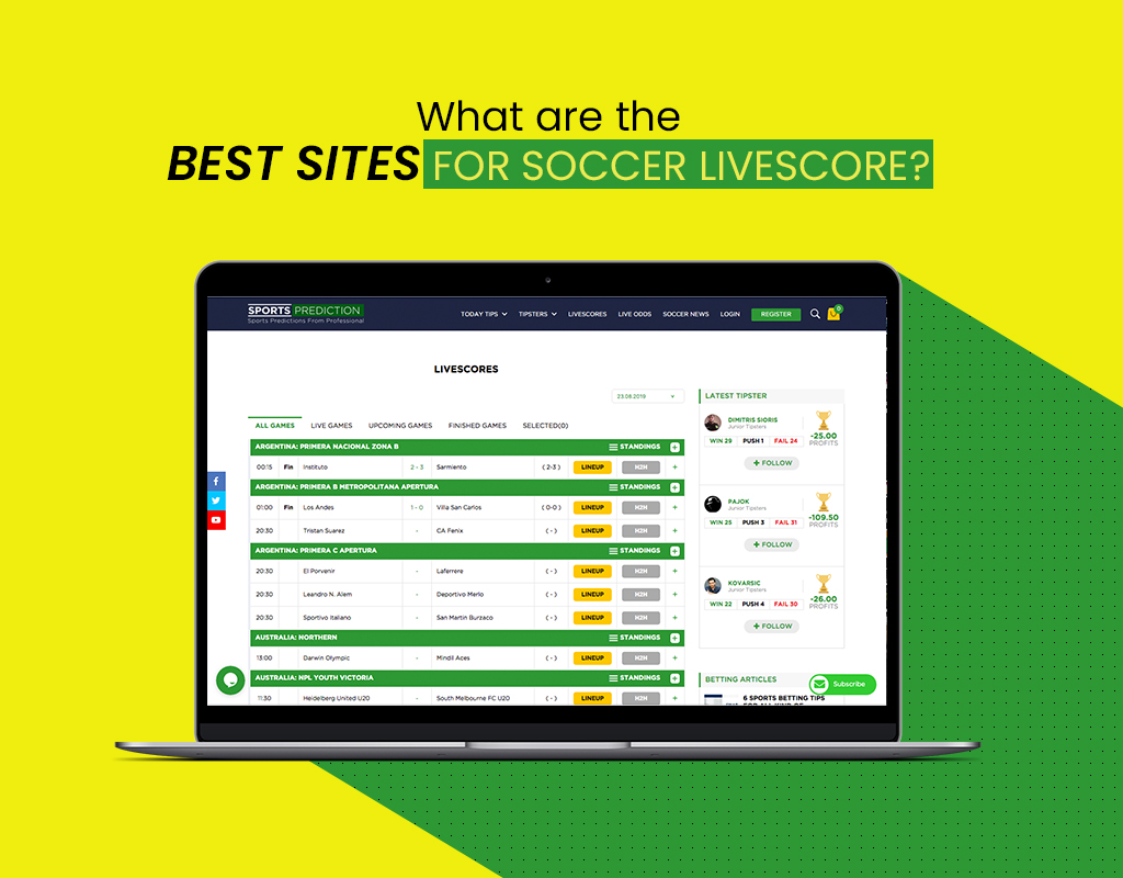 What are the best sites for soccer livescore?